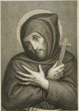 KOHLSCHEIN; SCHOLAE, Bildnis d. hl. Franziskus mit Stigmata , 19. Jh., Kupferst
