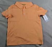 Carter's Baby Boy's Short Sleeve Button Top Polo RH8 Orange Size 5T NWT