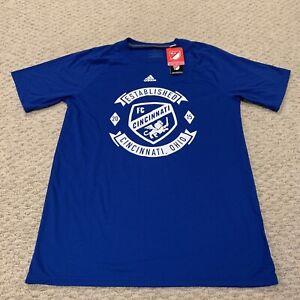 FC Cincinnati Adidas Ultimate Tee MLS Major League Soccer T Shirt New Medium