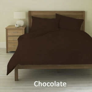 1000 Thread Count 3 PC Duvet Cover Set Egyptian Cotton Full Size Chocolate Solid