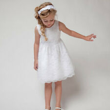 Girls Kids Princess Sleeveless Hollow Out Flower Lace Dress Party Tutu Dress NEW