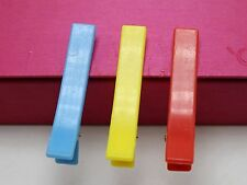 25 Mixed Bubblegum Color Plastic Pinch Alligator Hair Clips Teeth Bows DIY 58mm