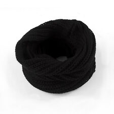 Women Ladies Wool Knit Winter Warm Knitted Neck Circle Cowl Snood Scarf 2018 NEW