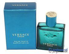 Versace Eros By Versace 0.17oz./5ml Edt Mini Splash For Men New In Box
