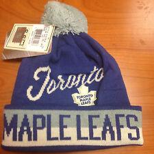 Nwt Toronto Maple Leafs CCM Knit Hat Retro Logo Pom Beanie Stocking Cap Youth