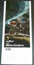 1974 HARLEY DAVIDSON MOTORCYCLE Z-90 CC SALES BROCHURE   (937)
