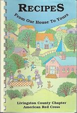 *HOWELL MI 1998 LIVINGSTON COUNTY RED CROSS COOK BOOK *RECIPES FROM OUR HOUSE