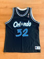 Vtg Shaquille O'Neal Orlando Magic Champion NBA Basketball Jersey Black Sz 48
