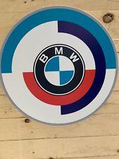 Enseigne Plaque Décorative Garage Auto BMW MOTORSPORT ( 50 cm de diamètre )