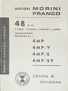 Libretto istruzione - Motori Morini Franco 48 c.c. 4MP - 4MP/V - 4MP/S - 4MP/SV