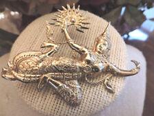 Vintage Sterling Silver Siam Dancer Figural Brooch Pin