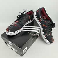 Adidas Originals Seeley Mens Black Red Print Skateboarding Shoes Trainers Size 9