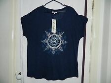 New Womens Print Placement Navy Top Sleeveless Plus Size 18 By Autograph
