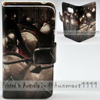 For Sony Xperia Series - Spartan Theme Print Wallet Mobile Phone Case Cover