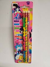 Vintage Lisa Frank Pencil Prints Cuddly Kittens 3 Pencil Total
