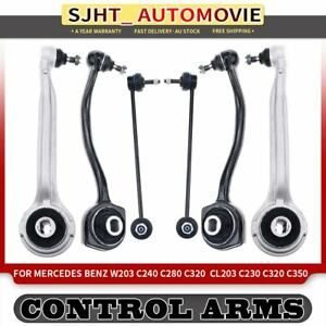 6x Front Left and Right Control Arms Kit for Mercedes Benz W203 C240 C280 C320