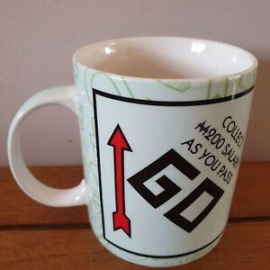 NWT Hasbro Monopoly Ceramic Mug Collect 200 As You Pass Go By Creative Tops.