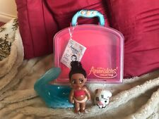DISNEY MINI ANIMATOR MOANA DOLL WITH CASE & ACCESSORIES NOT COMPLETE