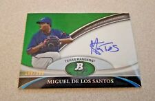 2011 Bowman Platinum Autograph Green #BPA-MD Miguel De Los Santos Rangers /399