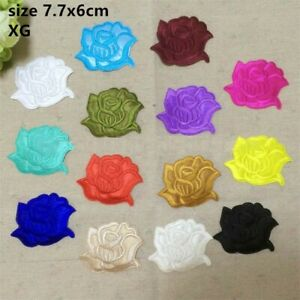 flower embroidered iron on badges/ patch heat transfer DIY cloth bagde