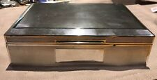 Beautiful Good Sized 1963 Solid Sterling Silver Art Deco Style Box Casket 587g.