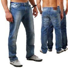 M.O.D Herren Jeans Hose Joshua MOD Pot blue  Blue-quarz Regular Fit Straight cut