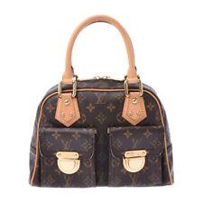 LOUIS VUITTON Monogram Manhattan PM Brown M40026 Hand Bag 800000084356000
