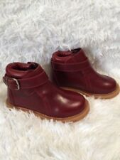 BRAND NEW! UNISEX KIDS GENUINE LEATHER DARK RED DURANGO ANKLE BOOTS SIZE 10.5
