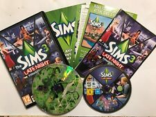 PC MAC DVD-ROM THE SIMS 3 BASE GAME + LATE NIGHT EXPANSION PACK