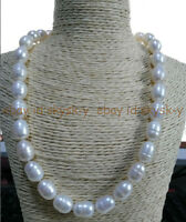 charming 12-13mm natural baroque south seas pearl necklace 20inch 14K