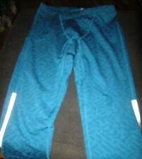 Brand New Mens Blue & Gray Nike Power Dri Fit Compression Pants, Size M