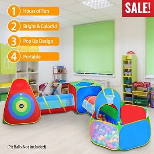 5 in 1 Crawl House Tunnel Portable Kid Indoor Outdoor Toddler Play Tent Ball Pit