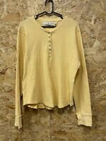 Womens Vintage TOMMY HILFIGER Yellow Cardigan Size XL Knitted Button Neck