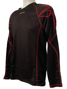 Polaris Mens Midweight Base Layer Top Black Red Long Sleeve Crew Neck 286403306