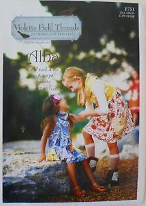 Violette Field Threads ALBA Cowl Neck Dress Cargo Pockets Sewing Pattern 2T-10
