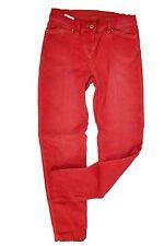 "Raffaello Rossi Jeans Gr. 34/S - Dirty Red ""Aletta"" Slim Cut Mid Waist Hose Dame"