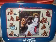 COCA COLA COKE SODA METAL TRAY TEDDY & COKE SERIES SWEET MEMORIES 1998