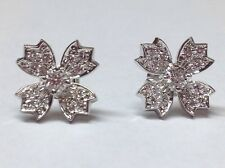 TIFFANY & CO. DIAMOND PLATINUM FLOWER EARRINGS
