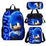 Sonic the Hedgehog 2020 Kids School Bag Backpack Lunch Bag Shoulder Bag Pen  Lot
