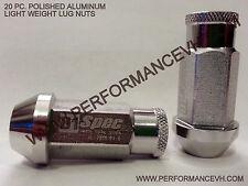 M12 X 1.5 SILVER Aluminum Racing Lug Nut Honda Acura Civic Accord Integra Toyota