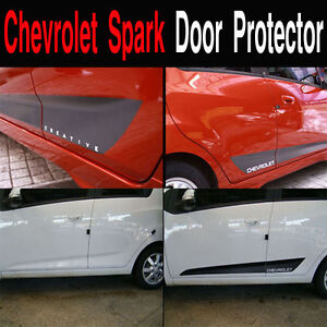 Chevrolet Spark Door Protector Decal Sticker Black/Carbon Black 4PCS