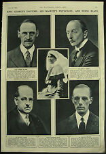 King George V Doctors Physicians Sister Catherine Black 1936 Magazine Page