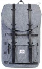 NWT HERSCHEL Little America Gray Canvas Leather Trim 25 L Backpack