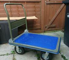 More details for heavy duty 350kg folding platform trolley truck cart flat bed - pneumatic wheels