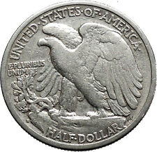 1942 WALKING LIBERTY Half Dollar Bald Eagle United States Silver Coin i44705