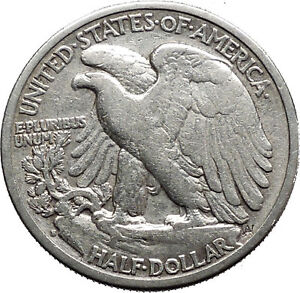 1942 WALKING LIBERTY Half Dollar Bald Eagle United States Silver Coin i44705