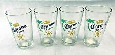 Corona Extra Beer Glasses~Beer Mugs~Set of 4~Barware~Palm Tree~Sun~Nice~EUC
