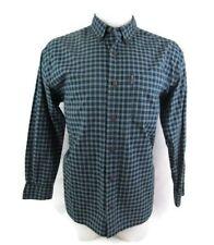 Abercrombie Men Blue Plaid Long Sleeve Shirt Size Extra Large XL Casual
