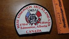 TRUCKS WEST EDMONTON TRUCKINGLAND CANADA TRUCKING  PATCH BX X #6