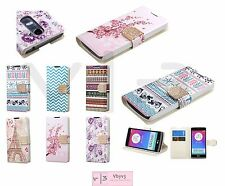For LG LEON C40 H320 H345 H326 H340 Bling Leather Flip Wallet Case Cover Stand